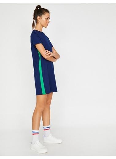 Koton Şerit Detaylı Kısa Elbise Lacivert